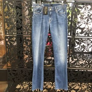 Mother Runaway Jeans Skinny Leg to Flare Opening